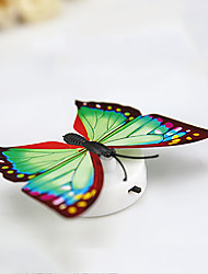 cheap -3PCS Creative Colorful  Paste Nightlight  Decorative Butterfly Lamp  Baby Bedlight  (Random Colour) With Battery