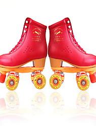 Недорогие -Муж. Жен. Роликовые коньки Anti-Shake Дышащий Регулируется Защитный Красный