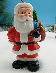 1 Pc Santa Claus Design Candle Home Decoration Christmas Ornament