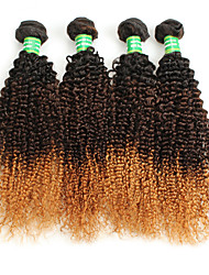 cheap -Brazilian Hair Curly Weave Afro Curly Human Hair Weaves 4 Pieces 0.4
