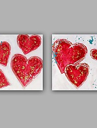 100%  Hand-Painted Abstract / Hearts Hang-Painted Oil PaintingModern / Classic One Panel Canvas Oil Painting For Home Decoration