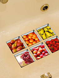Fruit 3D Bathroom Non-Slip Stickers The Floor Tile Individuality Decorative Stickers