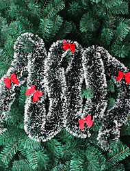 10PCS Christmas Tree Ornament Christmas Decorations Green White Christmas Tinsel Christmas Christmas Madder Tops(Style random)
