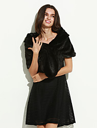 Ms fashion for autumn/winter warm imitation fur shawl Ma3 jia3 butterfly unlined upper garment