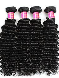 baratos -4 pacotes Cabelo Peruviano Onda Profunda Não processado Tramas de cabelo humano Extensões de cabelo humano