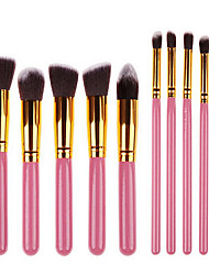 billige -10pcs Make-up pensler Professionel Brush Sets Syntetisk Hår Bærbar / Professionel Træ