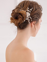 cheap -Pearl Crystal Hair Combs 1 Wedding Special Occasion Headpiece