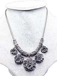 ieftine -Dame Guler Safir Flower Shape Plastic Floral Bijuterii Pentru Nuntă Petrecere Zilnic