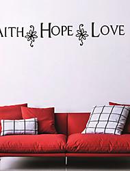 economico -Romanticismo Adesivi murali Adesivi aereo da parete Adesivi decorativi da parete,Vinile Materiale Rimovibile Decorazioni per la casa