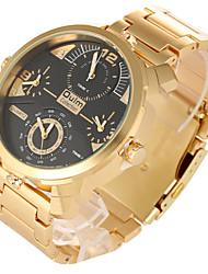 Недорогие -Мужской Спортивные часы Армейские часы Нарядные часы Модные часы Наручные часы С двумя часовыми поясами Панк Кварцевый Нержавеющая сталь