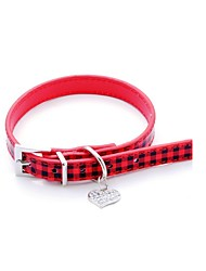 Katzen / Hunde Halsbänder Regolabile/Einziehbar Neuheit / Herzen / Strass Rot / Rosa PU Leder