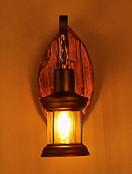 cheap -Single Head Industrial Vintage Retro Wooden Metal Painting Color Wall lamp for the Home / Hotel / Corridor Decorate Wall Light