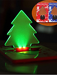 cheap -Christmas Tree Card Light  LED Portable Night Light Card Lamp Tree Shape Same Size As Credit Card In Wallet For Christmas Festival Art Decoration