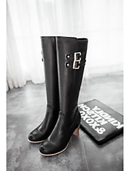 Women's Boots Spring Fall Winter Comfort Novelty Patent Leather Leatherette Wedding Office & Career Dress Casual Party & EveningChunky