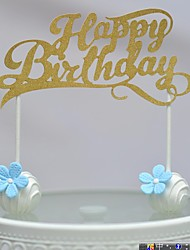 cheap -Cake Topper Beach Theme Hearts Card Paper Birthday with Bowknot 1 OPP