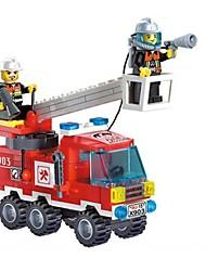 Недорогие -Игрушечные машинки Конструкторы Военные блоки Soldier совместимый Legoing Пожарная машина Мальчики Девочки Игрушки Подарок / Обучающая игрушка