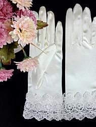 Handgelenk-Länge Fingerspitzen Handschuh Satin Elastischer Satin Brauthandschuhe Party / Abendhandschuhe Frühling Sommer Herbst Winter