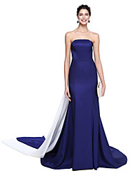 cheap -Mermaid / Trumpet Strapless Floor Length Taffeta Formal Evening Dress with Pleats by TS Couture®
