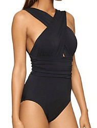 cheap -Women's Halter One-piece - Solid