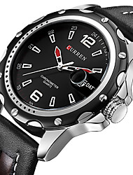 Men's Fashion Watch Wrist watch Military Watch Dress Watch Quartz Japanese Quartz Calendar / date / day Water Resistant / Water Proof