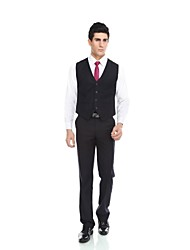 Patterns Wool & Polyester Blend Slim Fit Suit Vest with Pocket by WETSONJPOILO
