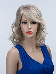 Недорогие -Очаровательный средней длины монолитным парики естественные волнистые человеческие волосы Ombre