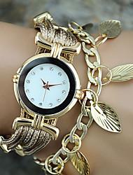 Недорогие -Женские Модные часы Наручные часы Часы-браслет Цветной Кварцевый PU ГруппаВинтаж Листья Богемные С подвесками Кольцеобразный Cool