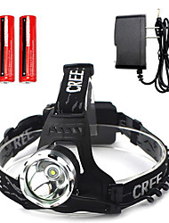 Headlamps LED other Lumens 1 Mode Cree T6 Yes Rechargeable Waterproof Emergency Super Light for Camping/Hiking/Caving Everyday Use