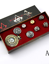 cheap -Video Game Stabber Style  Sign Alloy  Conner Silver Alloy Clock/Watch 8PcS