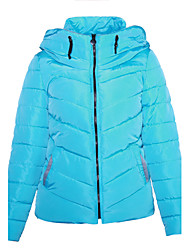 Women's Regular Padded Coat,Casual Daily Solid-Cotton Polypropylene Long Sleeves Hooded