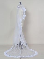 Wedding Veil One-tier Blusher Veils Elbow Veils Fingertip Veils Chapel Veils Cathedral Veils Lace Applique Edge Tulle