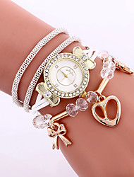 cheap -Women's Wrist watch Bracelet Watch Fashion Watch Quartz Colorful Alloy Band Charm Heart shape Vintage Candy color Casual Bohemian Cool