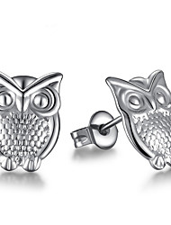 cheap -Women's Stud Earrings - Sterling Silver Owl Silver For Wedding / Party / Daily