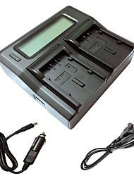 Ismartdigi DU21 LCD Dual Charger with Car Charge Cable for panasonic GS78 GS108 GS27 GS28 GS500 DU14 DU21 Camera Batterys