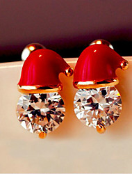 Santa Claus Hat Stud Earrings Earrings