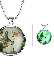 Women's Animal Shape Deer Silver Plated Alloy Unique Design Dangling Style Illuminated Punk Personalized Hip-Hop Euramerican Chrismas