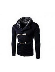 Sweatshirt Homme Sports Décontracté / Quotidien simple Actif Couleur Pleine Col Roulé Micro-élastique Coton Manches longues Automne Hiver