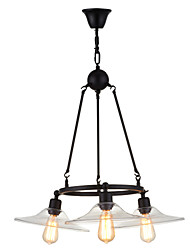 cheap -Pendant Light ,  Traditional/Classic Retro Painting Feature for Designers Metal Bedroom Dining Room Hallway