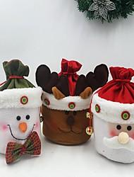 Недорогие -3шт домохозяйстве кухонных принадлежностей мило тихая ночь рождества статья мешок подарка