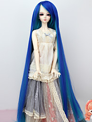 1/3 BJD SD Doll Wig High Temperature Fiber Extra Long Blue Braid Wig Not for Human Adult