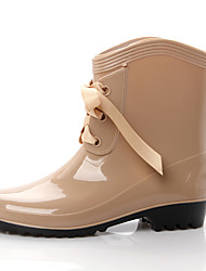 Women's Shoes Rubber Summer Boots For Outdoor Black Red Almond Light Brown