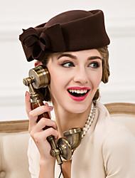Недорогие -Женский Шерсть Заставка-Свадьба Особые случаи На каждый день Шапки 1 шт.