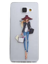 preiswerte -Hülle Für Samsung Galaxy A5(2016) / A3(2016) Transparent / Muster Rückseite Sexy Lady Weich TPU für A5(2016) / A3(2016)