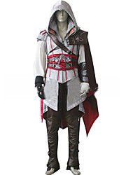 cheap -Inspired by Assassin Cosplay Video Game Cosplay Costumes Cosplay Suits Solid Colored Long Sleeve Coat / Gloves / Belt