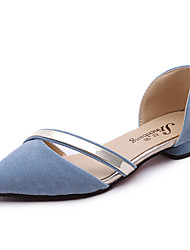 cheap -Women's Sandals Comfort Leatherette Summer Casual Comfort Flat Heel Black Light Grey Blushing Pink Light Blue Flat
