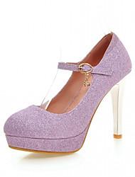 Da donna-Tacchi-Ufficio e lavoro Casual Formale-Light Up Shoes-A stiletto-Finta pelle-Oro Viola Argento Blu