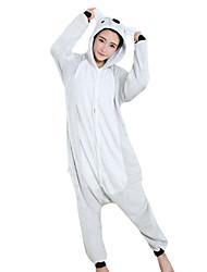 economico -Pigiama Kigurumi Koala Pigiama intero Pigiami Costume Visone velluto Grigio Cosplay Per Per adulto Pigiama a fantasia animaletto cartone