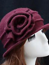 Women's Wool Bowler/Cloche Hat,Casual Solid Fall Winter