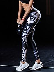 cheap -Women's Sporty Legging - Print, Animal Low Waist