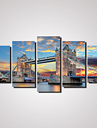 5 Panels London Tower Bridge Canvas Prints Wall Deco Arts for Home Decoration Unframed